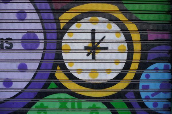 graffiti-klokken