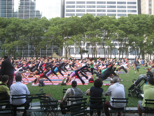 groepstherapie in het park